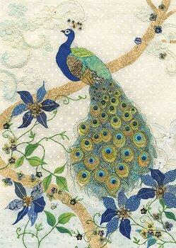 Bug Art : Clematis Peacock - kort med kuvert