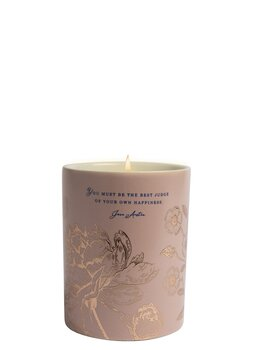 Jane Austen : Scented candle English rose -  Be the best judge  - Doftljus i porslinsmugg