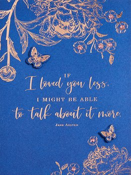 Jane Austen : If I loved you less - kort med pärlor och kuvert