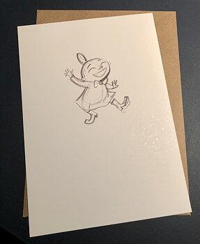 Mumin : Lilla My dansar - Kort med kuvert
