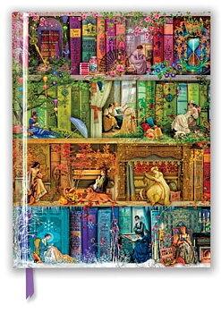 Aimee Stewart : A Stitch in Time Bookshelf - Maffig skrivbok olinjerad A4