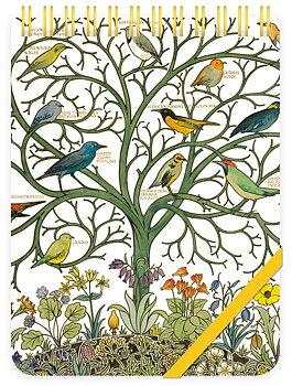 V&A : Birds of many climes - Reporterblock olinjerat med spiralbindning och resårband
