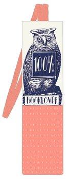 Läsuggla : Bokmärke med resårband  - Booklover