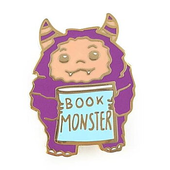Book Monster : Enamel Pin