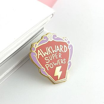 Awkward Super Powers : Enamel Pin