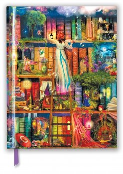 Aimee Stewart Treasure Hunt Bookshelves : Maffig skrivbok olinjerad A4