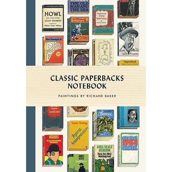 Classic Paperbacks : Notebook - Skrivbok med läsband och hårda pärmar linjerad A5