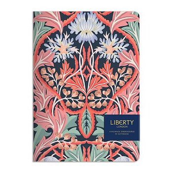 Liberty London : May Handmade B5 Embroidered Journal - Skrivbok linjerad med broderat omslag