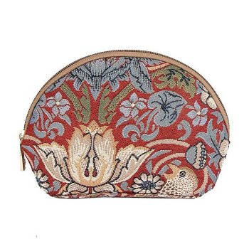 William Morris : Strawberry Thief red Cosmetic bag - Necessär Röd