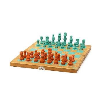 Spel : Schack & Damspel i hopfällbart träbräde