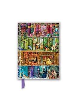 Aimee Stewart : Stitch in time Bookshelves  - Skrivbok med magnetlås linjerad A6