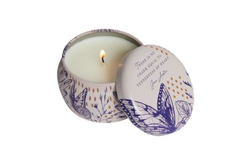 Jane Austen : Scented Tin Candle Rose - Tenderness of Heart  - Doftljus i plåtask med lock