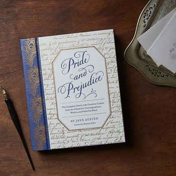 Jane Austen : Pride and prejudice - utgåva med breven handskrivna och handvikta