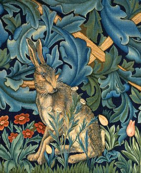William Morris : The Hare from the forest - kort med kuvert