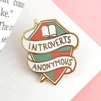 Introverts Anonymous : Enamel Pin