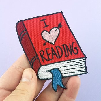 I love reading : Embroidered Patch