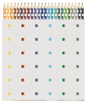 An Architect's Pencil Set :  The Colors of Michael Graves - 24 färgpennor i ask