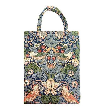 William Morris : Strawberry Thief blue - Tygväska mindre