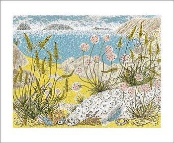 Angie Lewin : Summer Shore - Kort med kuvert