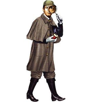 """Quotable Notable : """"Docka"""" Sherlock Holmes - kort med kuvert"""