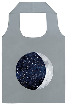Reflexkasse : Måne & Stjärnor - Vik-ihop-väska i reflexmaterial. Se till att synas ordentligt i mörkret!