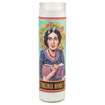 Secular Saints Candle : Virginia Woolf - Doftljus i glas med bild av Virginia Woolf