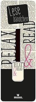 Relax & Read : Bokmärke med band och metallklämma