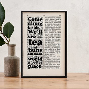 Book Page Print : Wind in the Willows - We'll see if tea and buns