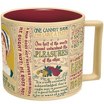 Jane Austen : Literary Quotes Mug