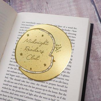 Literary Emporium : Midnight Readers Club - Brass Bookmark