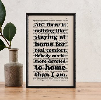 Book Page Print : Emma Ah! There is nothing like staying at home
