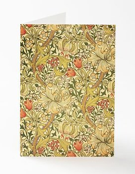 William Morris : Golden Lily  Kort med kuvert