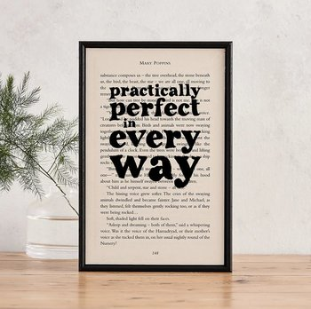 Book Page Print : Mary Poppins Practically perfect