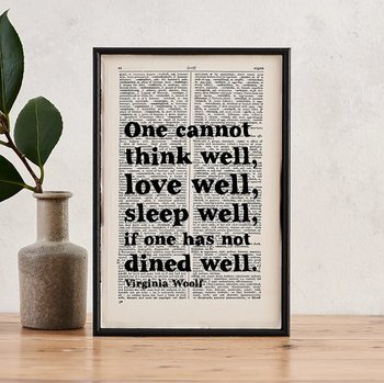 Book Page Print : Virgina Woolf One cannot