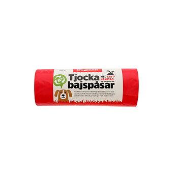 Bajspåse knythandtag 50-pack Röd