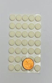 Självhäftande möbeltass 10 mm Vit