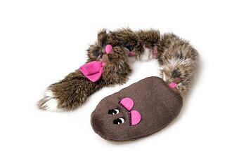 Hundleksak Råtta med kaninpäls