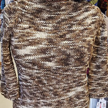 Stickkit tröja med trekvarts ärm i Arena, 14 nystan