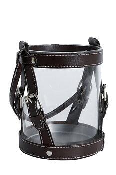 Hästinspirerad ljuslykta i glas Leather