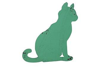 Gårdsskylt Katt Grön