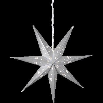 Grå hängande adventsstjärna 70x65cm