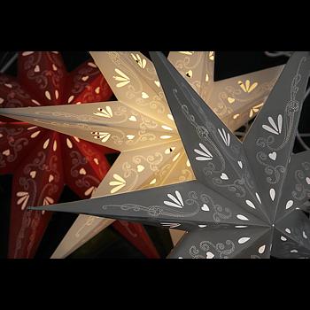 Röd hängande adventsstjärna 70x65cm