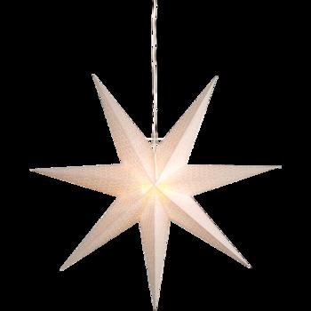 Vit hängande adventsstjärna Dot100cm