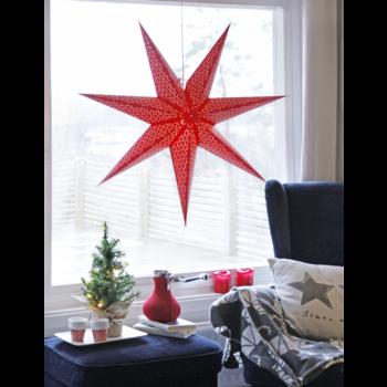 Röd hängande adventsstjärna Dot100cm