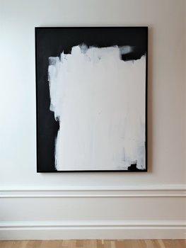 LEAN ON svartvit abstrakt tavla