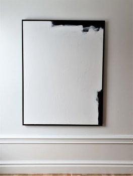 SALUTATIONS svartvit abstrakt målning