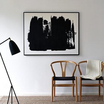 ALIVE svartvit, stor tavla