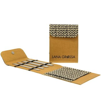 Strumpstickset Mini Knit-Pro Edelstahl/Alcante - 2,25 - 3,5 mm