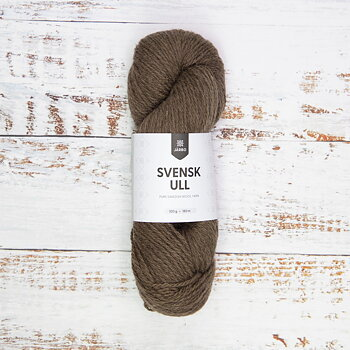 Svensk Ull 100 g - Log House Brown