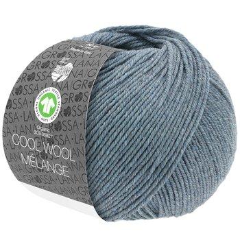 Cool Wool Melange GOTS - 110 Gråblå melerad